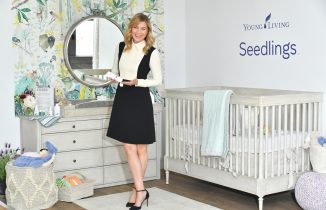 Ellen pompeo celebrates young living seedlings line for baby