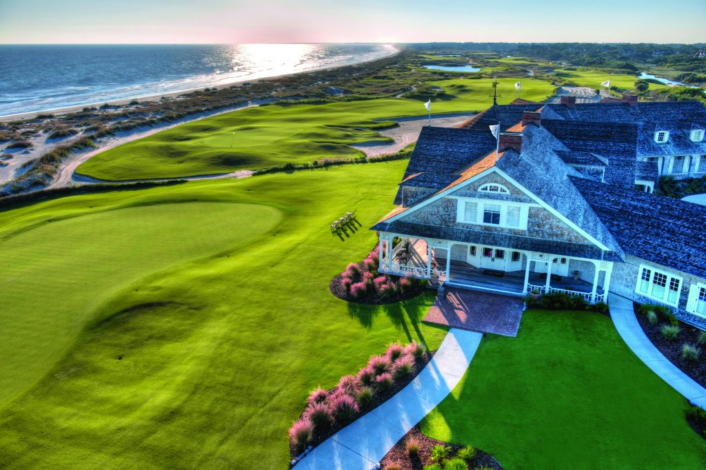 clubhouse on giant golf course