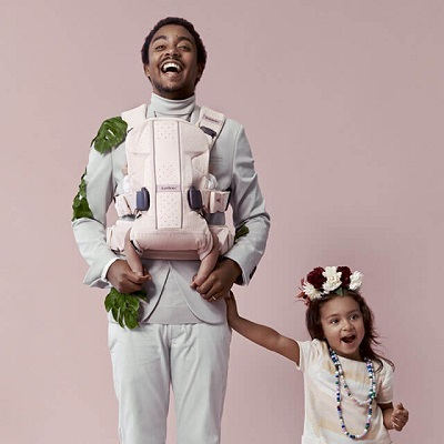 BabyBjorn Baby Carrier One - Spring Collection #dadstories, Powder Pink