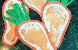 carrot footprints with paint