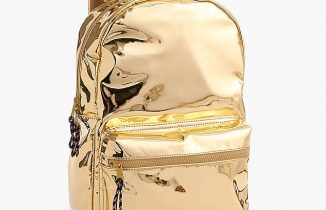 gold shiny backpack