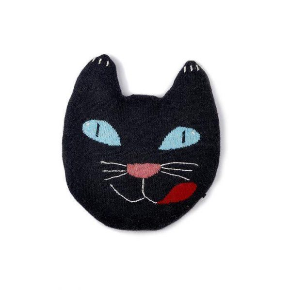 Oeuf Black Cat Pillow