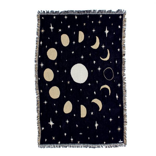 Calhoun & Co. Moon Phases Throw Blanket