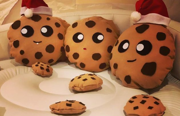 stuffed animal cookies in an indoor igloo