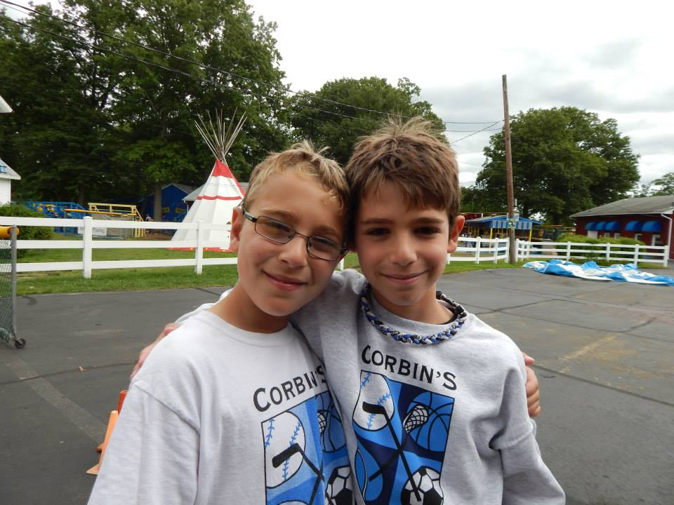 two young boys at summer camp