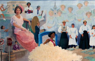 Painted mural of influential women