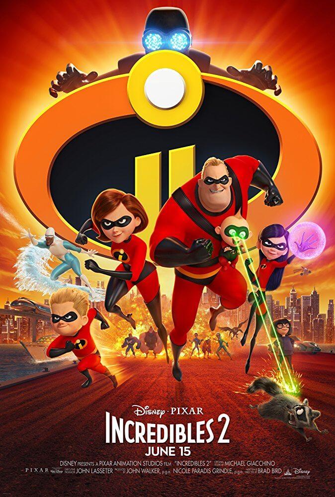 Samuel L. Jackson, Holly Hunter, Craig T. Nelson, Brad Bird, Sarah Vowell, Eli Fucile, and Huck Milner in Incredibles 2 (2018)