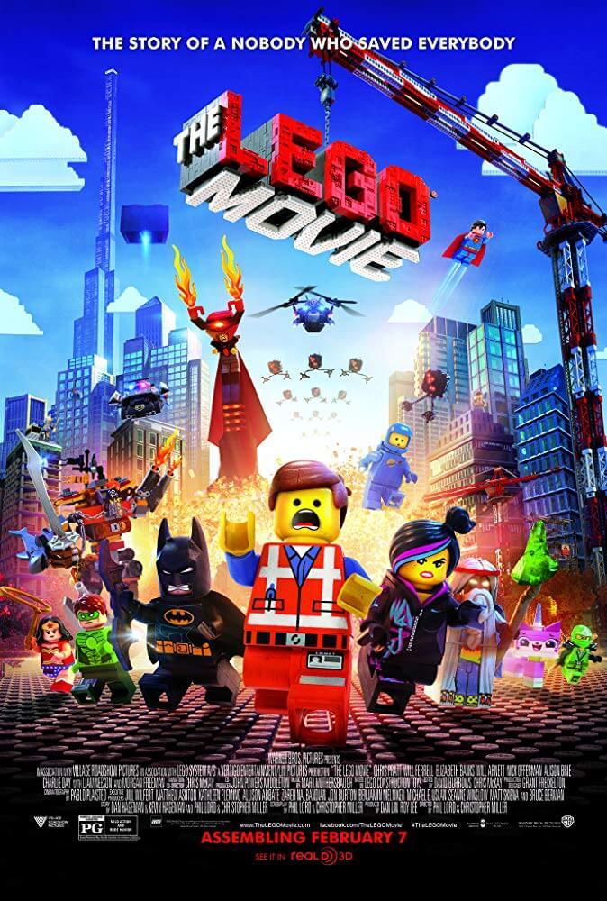 Morgan Freeman, Will Ferrell, Will Arnett, Elizabeth Banks, Charlie Day, Nick Offerman, Chris Pratt, Cobie Smulders, Channing Tatum, Alison Brie, and Jonah Hill in The Lego Movie (2014)