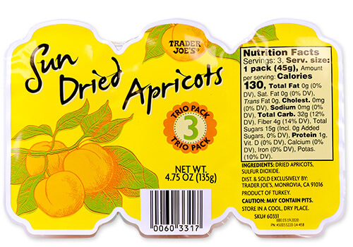 Trader Joe's Sun Dried Apricots Trio Pack