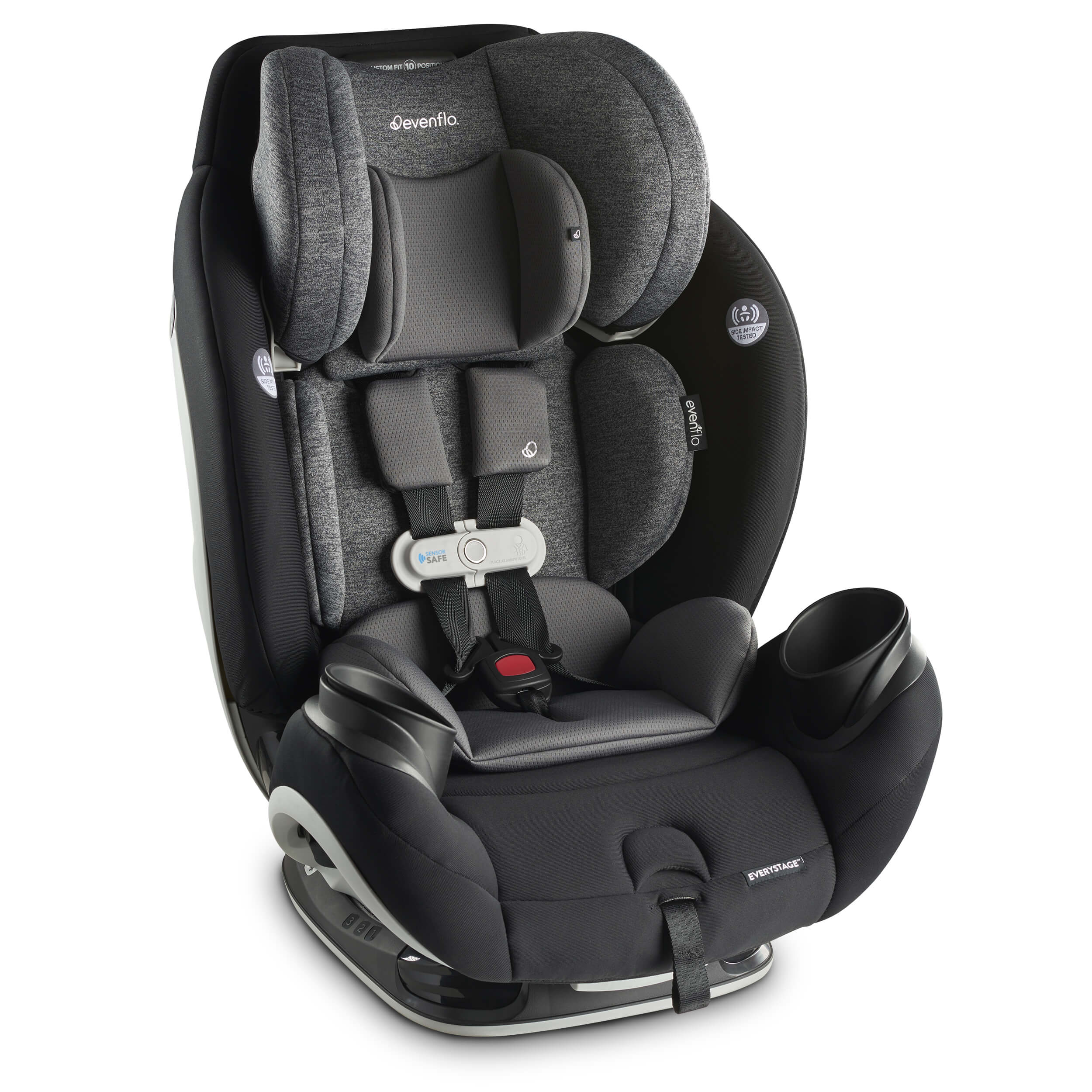 Best Tech Car Seat - Evenflo Gold SensorSafe EveryStage Smart All-in-One Convertible Car Seat