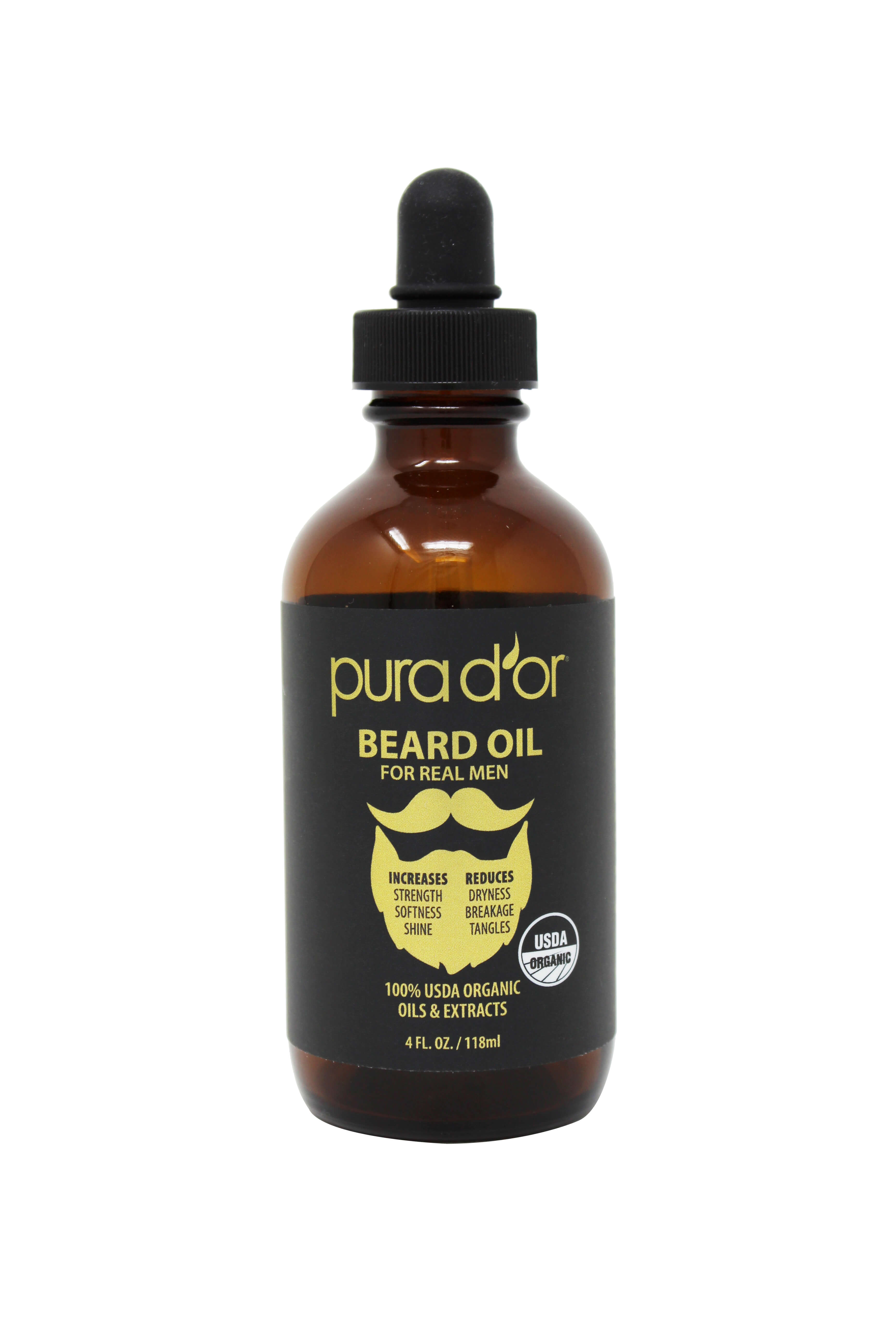 Pura D'or's USDA-Certfied Organic Beard Oil